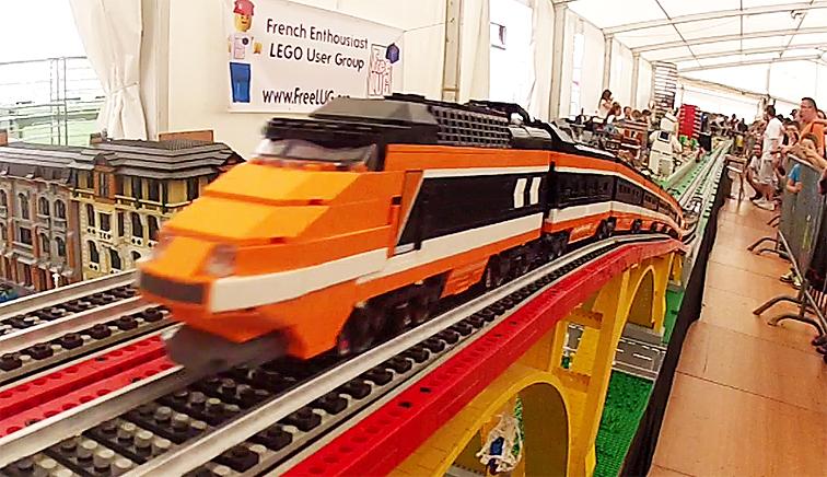 Ii Du Monde Record Les De Lego Trains Freelug Vitesse Train D'un 35ARjqS4Lc