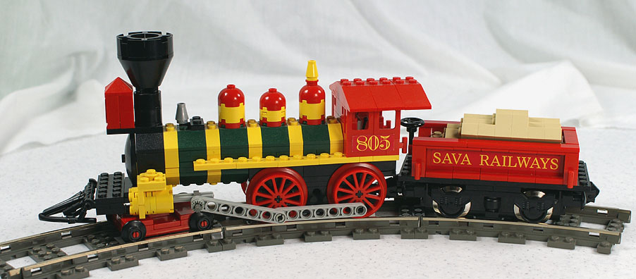 4 Roues Motrices >> Locomotive vapeur LEGO - Géométrie de voie - FreeLUG