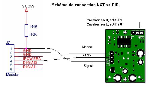 Favorit Connecter un détecteur de mouvement infrarouge (PIR) à un NXT  GY83
